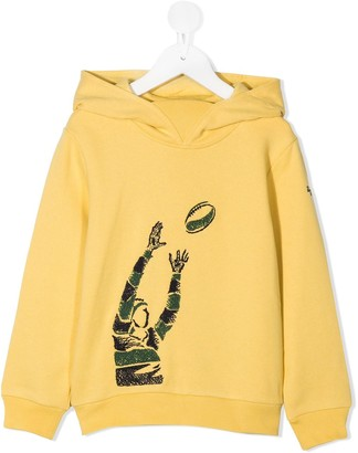 Il Gufo Rugby Player Print Hoodie