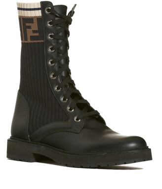 Fendi Rockoko Chelsea Sock Combat Boot