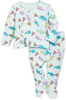 Rosie Pope Pizza Shark Kimono Top & Footed Pants Set (Baby Boys)