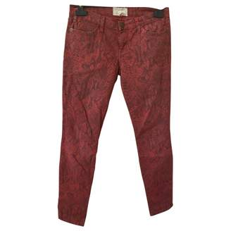 Current/Elliott Current Elliott Red Cotton - elasthane Jeans