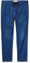 Remi Relief Slim-fit Cotton-ripstop Drawstring Trousers - Blue