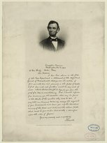 Photo: of Letter from Abraham Lincoln to Mrs. Bixby,1891,American Civil War