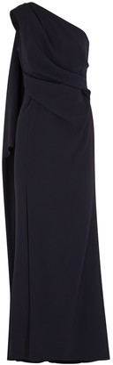 Paule Ka Navy one-shoulder gown