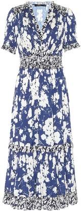 Polo Ralph Lauren Mixed floral satin midi dress