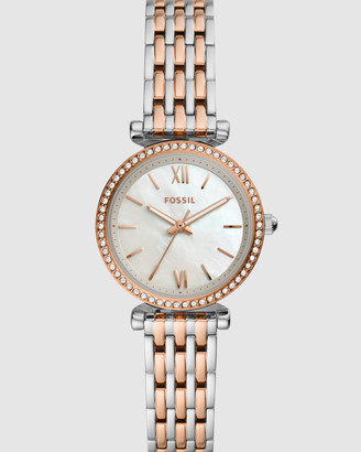 Fossil Carlie Mini Two Tone Analogue Watch