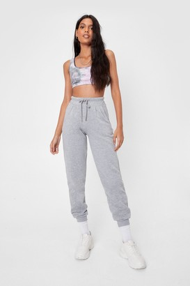 Nasty Gal Womens Run Throught It High-Waisted Joggers - Grey - 6
