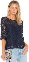 Cupcakes And Cashmere Andrie Top in Navy. - size L (also in M,S,XS)