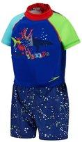 Speedo Youth UV Polywog Swimsuit, Blue - Large