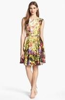Print Fit & Flare Dress