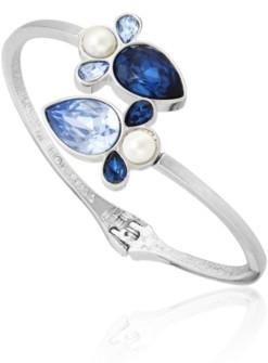 T Tahari Stones and Shells Bypass Cuff Bracelet