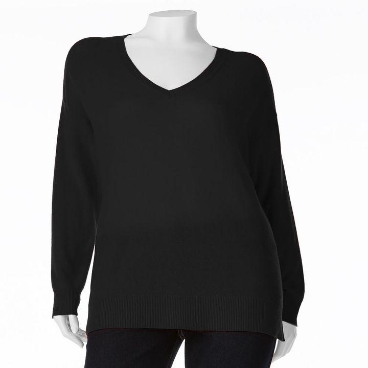 Apt. 9 solid cashmere sweater - women's plus