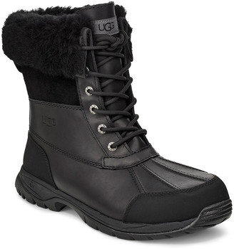 UGG Men's Butte Waterproof Leather Cuffed Boots