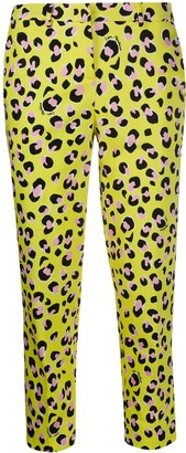 Love Moschino Leopard Print Cropped Trousers