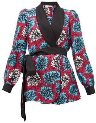 Mary Katrantzou Darcy Coral-print Silk-twill Robe Jacket - Multi