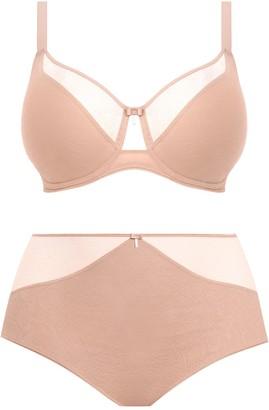 Elomi Mia Underwire Lace Panel Bra (Regular & Plus Size, E-JJ Cups)