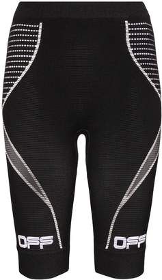 Off-White seamless knitted biker shorts