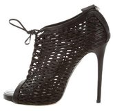 Tabitha Simmons Caged Lace-Up Booties