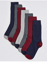M&S Collection 7 Pairs of Cool & FreshfeetTM Cotton Rich Socks