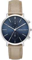 Michael Kors Men's Chronograph Jaryn Tan Leather Strap Watch 42mm MK8540