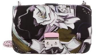 Christian Dior Floral Silk Medium Miss Flap Bag