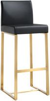 Tov Set Of 2 Denmark Black Gold Steel Barstools