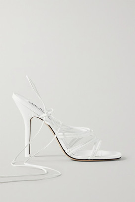 ATTICO Fiona Leather Sandals - White