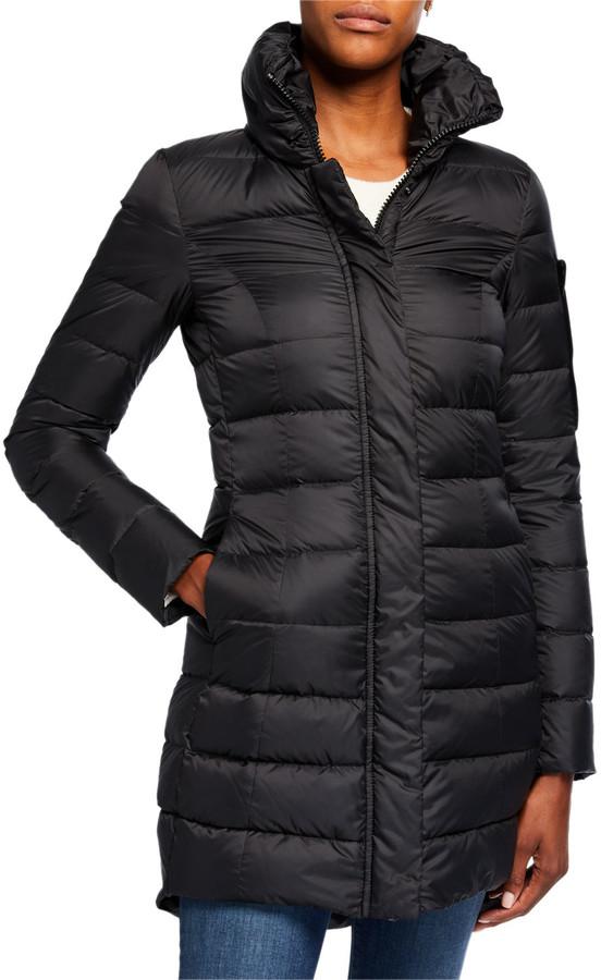 Peuterey Sobchak Fitted Channel-Quilt Coat