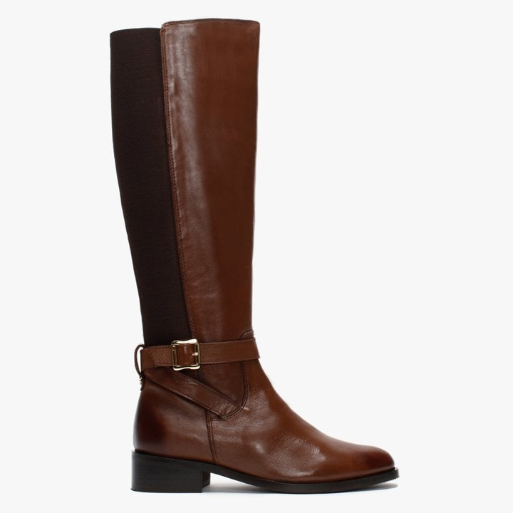 Daniel Ester Tan Leather Knee High Boots