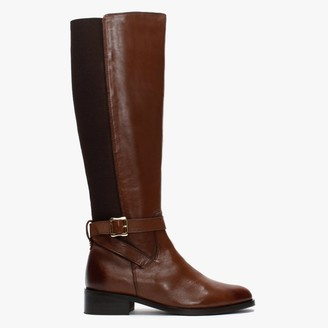Daniel Ester Tan Leather Knee High Boots