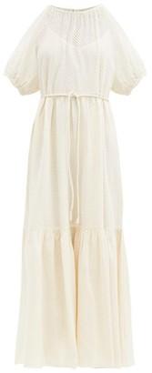 Apiece Apart Simone Broderie-anglaise Cotton Dress - Cream