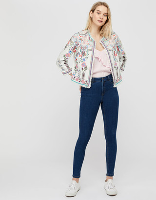 Under Armour Embroidered Jacket in Organic Cotton Ivory