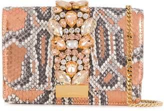 Gedebe Cliky python effect shoulder bag