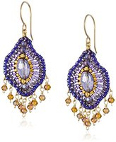 Miguel Ases Violet Lotus Multi-Drop Earrings