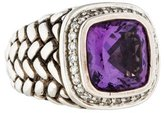Scott Kay Amethyst & Diamond Woven Cocktail Ring