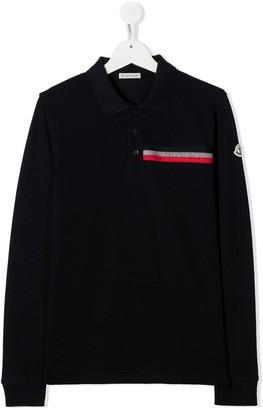 Moncler Enfant TEEN long sleeve polo shirt
