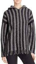 Alexander Wang Fringe Hem Hooded Pullover