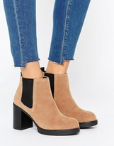 Pull&Bear Elastic Chunky Heeled Ankle Boot