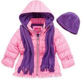 Pink Platinum Heavyweight Puffer Jacket - Girls-Toddler