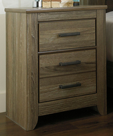 Signature Design by Ashley Warm Gray Zelen Two-Drawer Night Stand
