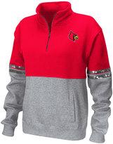 Colosseum Women's Louisville Cardinals Rudy Quarter-Zip Sweatshirt