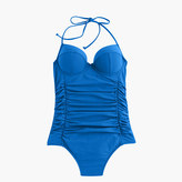 J.Crew Halter underwire one-piece swimsuit