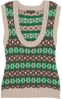 Burberry Fair Isle Cashmere And Wool-blend Vest - Green