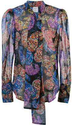 Sara Roka Thiffettee silk paisley blouse