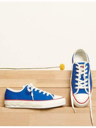 Sandro Canvas Trainers With Flame Sole
