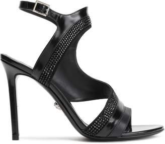 Versace Crystal-embellished Leather Sandals