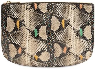 A.P.C. Sarah Python Print Leather Pochette