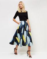 Jaeger Graphic Floral Jacquard Skirt