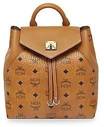 MCM Women's Small Essential Visetos Original Leather Backpack