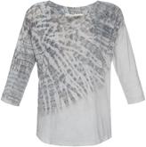 Raquel Allegra Tie-dye cocoon cotton-blend jersey top