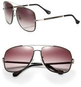 Balenciaga 60MM Metal & Acetate Aviator Sunglasses